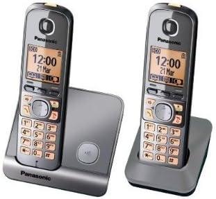 Panasonic KX-TG6712SPM - Teléfono DECT, color plateado: Amazon.es: Electrónica