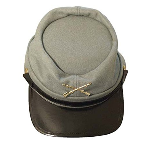 Adult Confederate Soldier Costumes - Civil War Wool Lined Kepi Hat