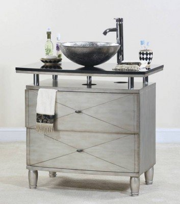 Ultimate Accents Contempo Silver Vanity