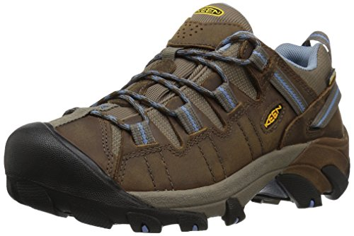 KEEN Women's Targhee II Waterproof Hiking Shoe,Dark Earth/Allure,7 M US