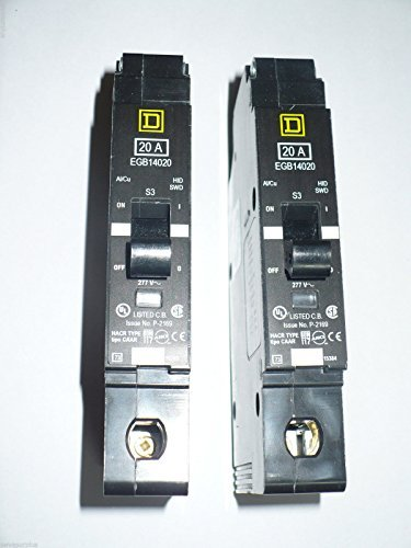 New Square D EGB14020 Circuit Breaker 1 Pole 20A 277V 35kA EGB Series