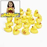 OTC - 20 Yellow Plastic Weighted Carnival Ducks Matching Game