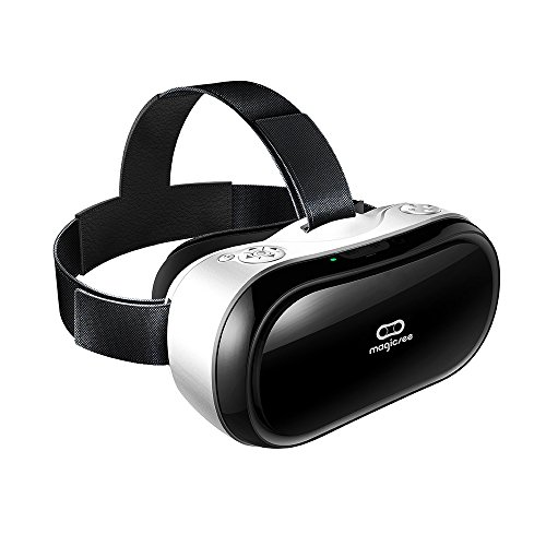 PandaWalker Magicsee M1 3D VR All-in-one ,VR One Virtual Reality Headset VR Glasses Game Video HDMI 1080P HD 360 Viewing Immersive , with controller ()