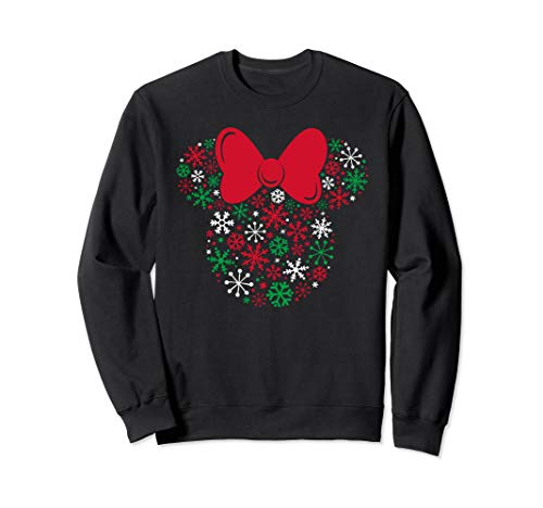 Disney Minnie Mouse Icon Holiday Snowflakes Sweatshirt (Disneyland Christmas Snow)