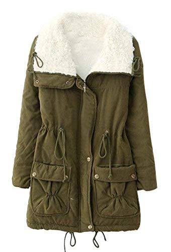 Mode Velours Femme Outerwear Manches Automne Parker Longues Jacket Vintage Hiver Chic rwxZqnrp