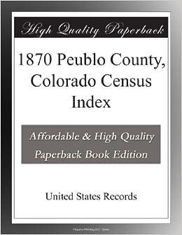 1870 Peublo County, Colorado Census Index