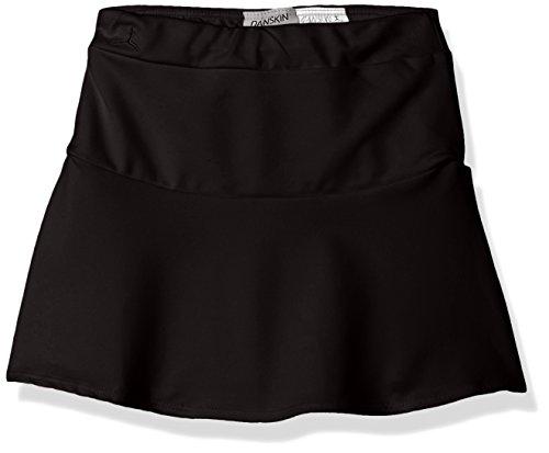 (Danskin Girls' Little (2-6X) Dance Skirt, Rich Black/Drop Waist Small (4/6))
