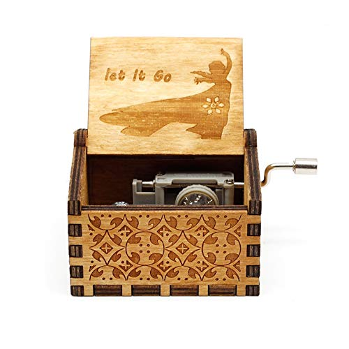VDV Music Box - 2018 New Pink Music Box la la Land Jack from Pirates Beauty and The Beast Rainbow Davy Jones let it go Suitable ()