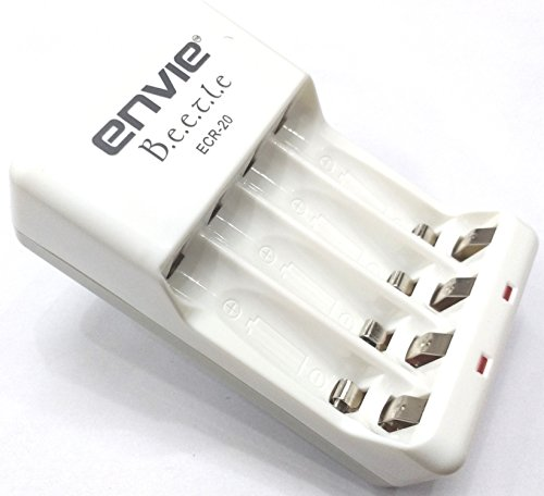 Invento Envie ECR 20 Charger For 2 4 AA cell  amp; AAA cell Nimh Nicd Rechargeable Batteries