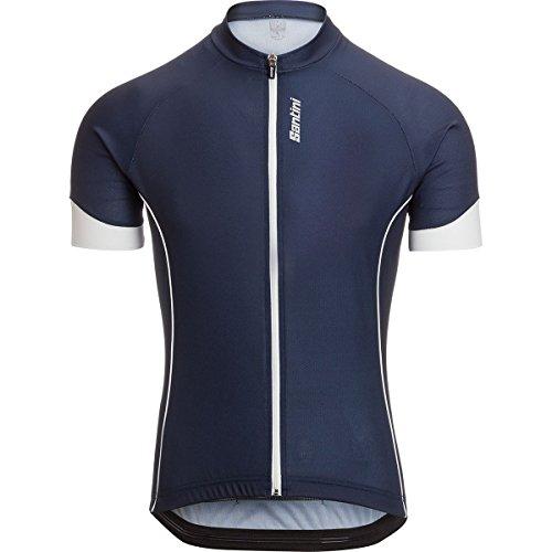 (Santini Vento Short-Sleeve Jersey - Men's Blue Nautica, S)
