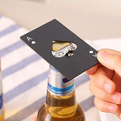 Black Poker Card Beer Bottle Opener Personalized Stainless Steel Credit Card Bottle Opener Card of Spades Bar Tool]()