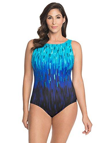 273fd33f84507 Longitude Brushstroke Ombre One-Piece Swimsuit Style L184240 ...