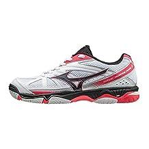 Mizuno Wave Hurricane 2 Netball Shoes - AW16 - US 11 - White/Black/Pink