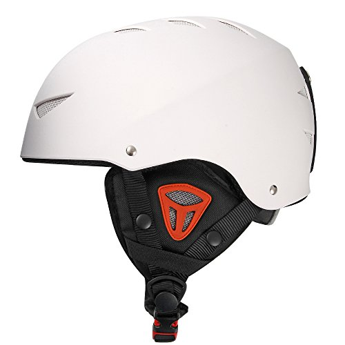 Outer Shell Ski Helmet Convertible Skateboard Helmet with Quick Adjustment White L