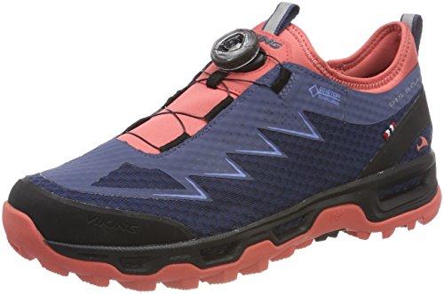 Viking DIS II Boa GTX W, Zapatillas de Senderismo para Mujer Azul (Navy/Coral 551)