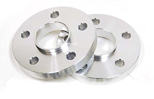 (Set of 2) Hubcentric Wheel Spacers | 5x112 Bolt Pattern | 66.6mm 66.56mm Center Bore | (17mm Thick) ()