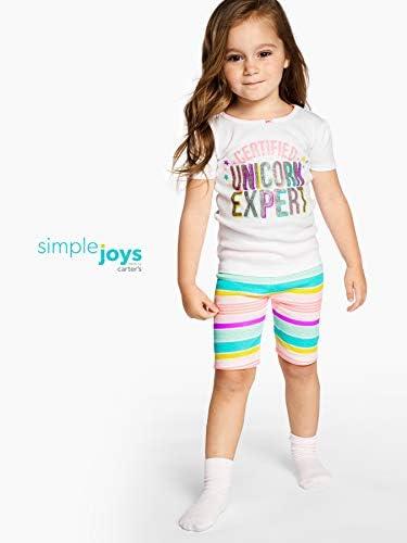 Simple Joys by Carter's - Pigiama due pezzi - Set di pigiama in cotone, 6 pezzi - Bebè femminuccia