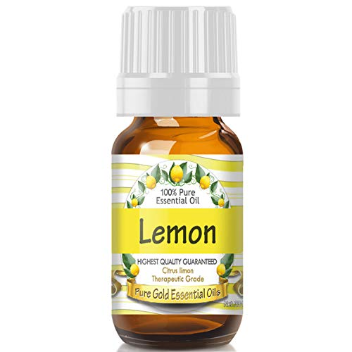 Lemon Essential Oil (100% Pure, Natural, UNDILUTED) 10ml - Best Therapeutic Grade - Perfect for Your Aromatherapy Diffuser, Relaxation, More!