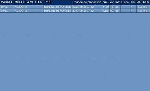 ETS-EXHAUST 1346 Silenziatore marmitta Posteriore pour AGILA 1.2 HATCHBACK 75//80hp 2000-2007