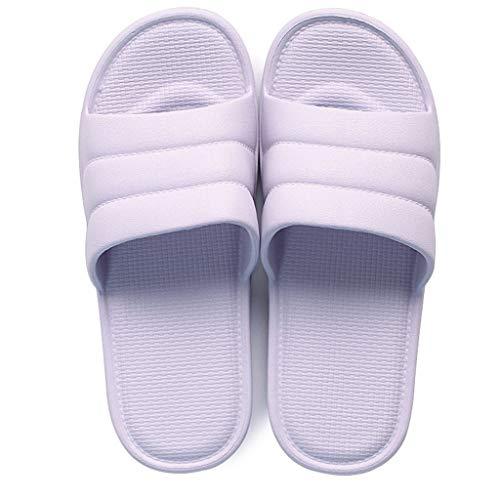 Baño Antideslizante Purple Aminshap Palabra Parte Verano Pareja Inferior Inicio Sandalias Interior Modelos Suave Zapatillas Femenino nYqA0wY4