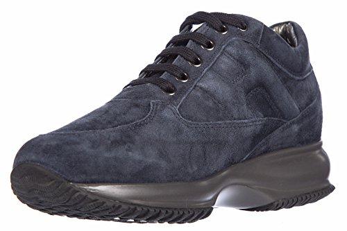 Hogan chaussures baskets sneakers femme en daim interactive altraversione blu