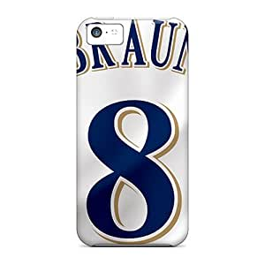 Fashion Protective Milwaukee Brewers Case Cover For Iphone 5c