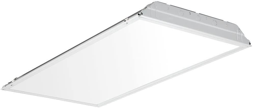 Lithonia Lighting 2GTL4 A12 120 LP840 4000K Contractor Select LED Lensed Troffer Light Without Battery, 2 x 4', White
