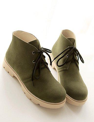 Plateforme Bout décontracté Bottes en pour pour Rond Femme Mode Chaussons Femme Chaussons à green Chaussures Bottes Polaire Citior qzHR6aR