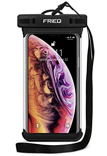 "Waterproof Case Cellphone Dry Bag Pouch for iPhone Xs Max XR XS X 8 7 6S Plus, Samsung Galaxy S10 S10e S9 S8 +/Note 9 8, Pixel 3 2 XL HTC LG Sony Moto up to 6.5"" - Designed by FRiEQ from FRiEQ"