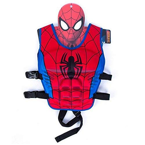 Children Float Swimming Aid Life Jacket Spiderman Learn-to-Swim Buoyancy Aid Vest (Spiderman) ()