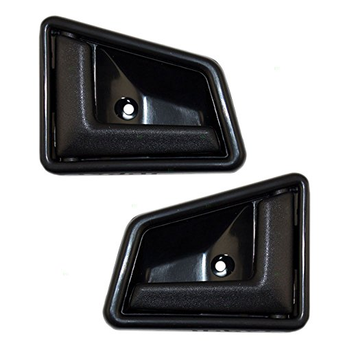 Pair Set Inside Door Handles Textured Replacement for 4 Door Suzuki Sidekick Geo Chevrolet Tracker 8313056B015ES 83140-56B01-5ES AutoAndArt ()