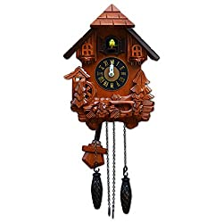TransSino Treasures 17 Black Forest Quartz Cuckoo Clock with Bird Chimes the Hour