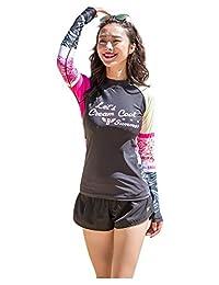 Ilishop Women's UV Sun Protection Long-Sleeve Crew Rashguard 2016 Rash Guards
