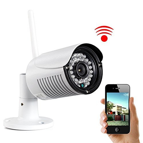 UOKOO Bullet camera-720P HD IP Camera Weatherproof Surveillance Network Camera with Night Vision-Motion Detection Outdoor Security Camera with Built-in 8G SD Card H03 [並行輸入品] B01KBRC1US