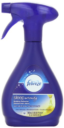 Price comparison product image Febreze Sleep Serenity Bedding Refresher,  Fabric Refresher,  Warm Milk & Honey (1 Count,  500 Ml),  16.9 Ounce