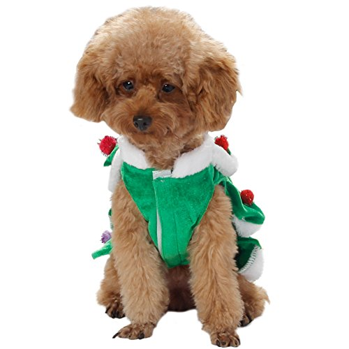 Fanala (US stock, Christmas Tree Pet Dog Cat Coat Halloween Puppy Clothes Costumes Apparel 41fi1Kl2nrL