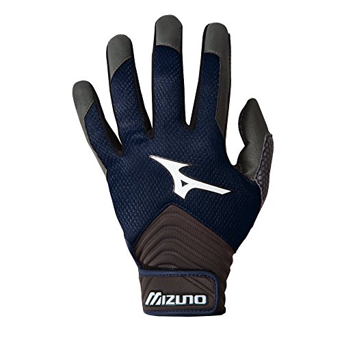 Mizuno MVP Youth Baseball Batting Gloves - Navy (Youth XX-Small) (88 Youth Baseball Bat)