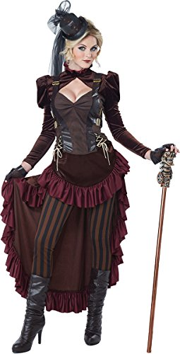 California Costumes Women's Victorian Steampunk Costume, ...