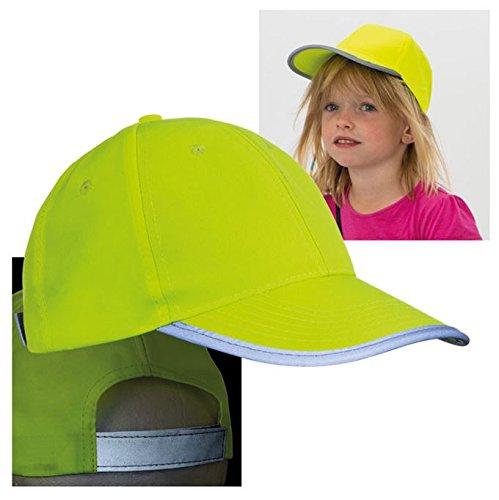 Kinder Baseball Cap - Signalfarbe für Sicherheit - neonfarben und reflektierend - Einheitsgröße - stufenlos verstellbar NoName