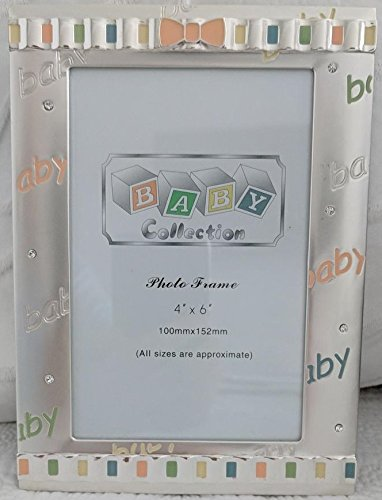 New Baby Gift - Silver Plated Picture Frame (approx. 8.2 x 6.1) - Holds approx. 4 x 6 Photo Elegance