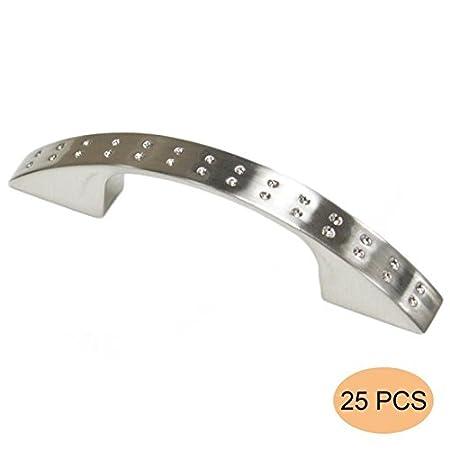 Probrico Zinklegierung K/üchenschrank T/ürgriffe M/öbelgriffe Relinggriff M/öbelknopf BA 64mm 2.5 geb/ürstetes Nickel PD2593BSN64