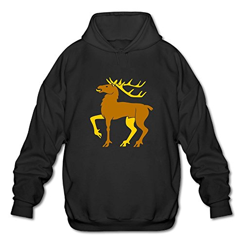 Gzhouqube Men's Christmas Elk Tops Casual Hat Without Pocket Hoodies Sweatshirt Tops Blouse XL Black