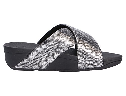 Lulu Femme Fitflop Sandals Gris shimmer Slide print Bout Cross Ouvert d4Oxn4