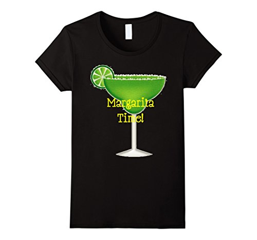 Womens Margarita Time! Funny Cocktail Drink Lime Tequila Shirt Small (Lime Tequila Drinks)