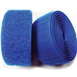 Patient Head & Extremity Restraint Straps - Hook & Loop, Royal Blue, 4''W x 30'L