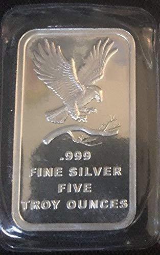 Silvertowne 5oz Silver Bar - Ounce Bar 5