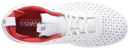 K-swiss Ladies Dani Sneaker White (bianco Perf / Poinsettia 124)
