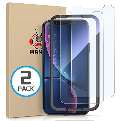 MANTO [2-Pack] Screen Protector for iPhone XR 6.1 Inch Tempered Glass Protector Film 3D Touch, Anti Fingerprint, Case Friendly, Clear