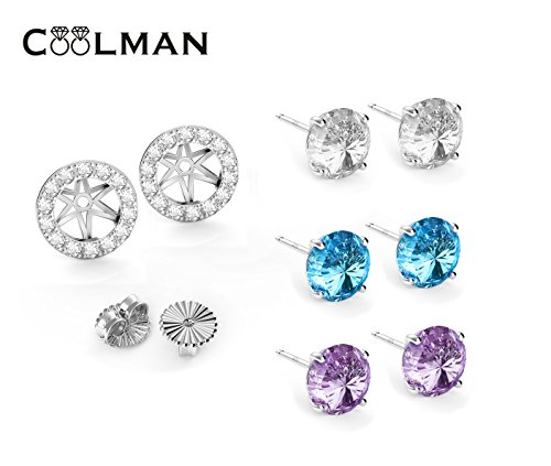 COOLMAN Sterling Silver Earrings Freshwater