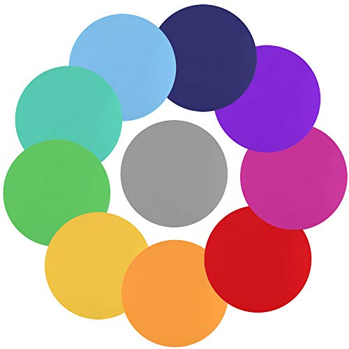 10 Sticker (Dry Erase Circles, CGBOOM 10 Pieces Colorful Wall Stickers White Board Marker Removable Vinyl Dot Wall Decal Classroom Table Spots for Teachers (11.8 inch))